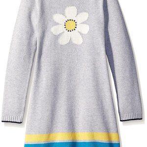 Gymboree Girls Grey Daisy Sweater Dress